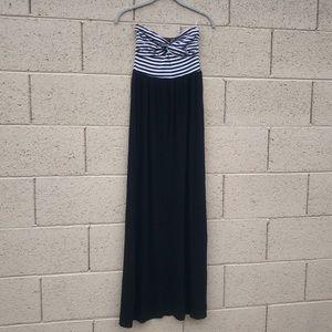 ✨2bBebe Black & White Striped Strapless Maxi XS